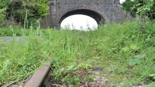 Bridge over disused railway line in Portishead