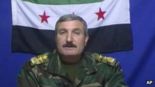 Undated video of Riad al-Asaad