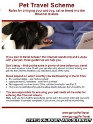Pet travel leaflet