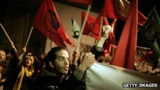 Demonstrators in Nicosia