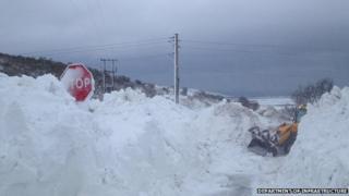 Isle of Man snow