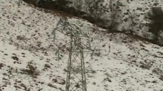 Broken power line in Arran