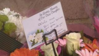 Flowers left at the scene of the accident