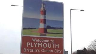 Plymouth's new welcome signs