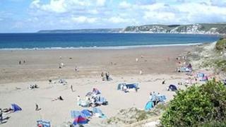 Bigbury beach in Devon