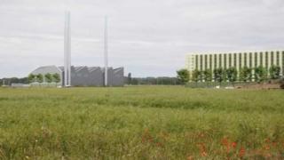 Artist's impression of Addenbrooke's energy centre