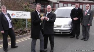 Police hand over car keys to St Luke's Hospice