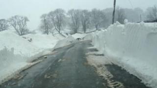 Ilam snow drifts