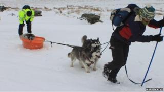 Manx snow scene courtesy Warren Keys