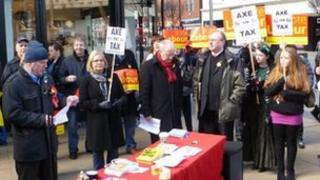 Housing benefit changes rally in Middlesbrough