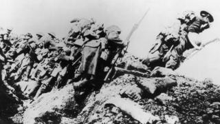 British troops at the Somme in 1916