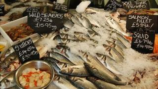 Fresh fish stall in UK - file pic