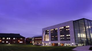 Lowestoft College at night