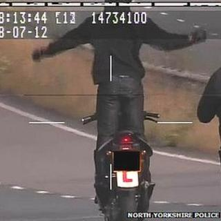 Teenage moped rider