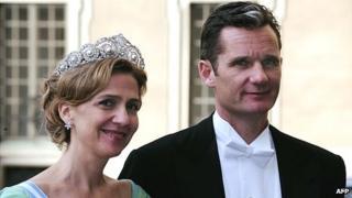 Princess Cristina and husband - file pic, 19 Jun 10