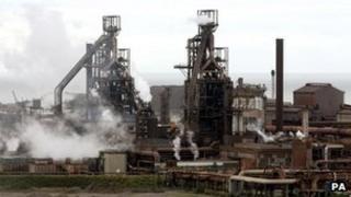 Tata steelworks at Port Talbot
