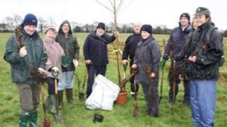 Keresley Jubilee Wood planting by Walter Milner