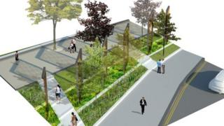 Western edge of proposed Jubilee Square