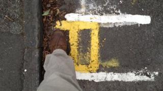 Double yellow lines in Cambridge