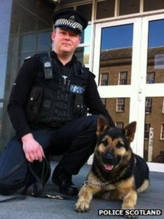 Nipper and Constable Ryan Galloway