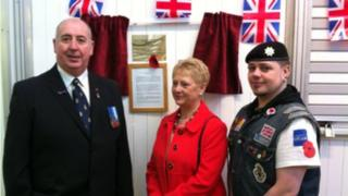 Chairman Stuart Kay, son Steve Kay and Pauline Wilson who opened up the centre