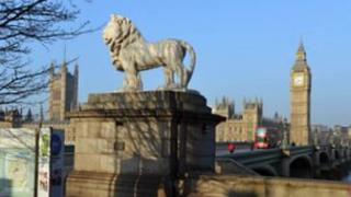 Lion statue and Parliament