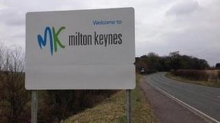 Milton Keynes sign