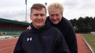 David Weir (left) and his long-term coach Jenny Archer