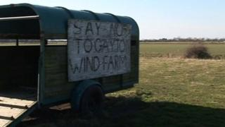 Protest sign at Gayton Le Marsh
