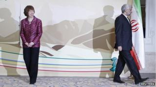 Iran's chief negotiator Saeed Jalili and EU foreign policy chief Baroness Ashton