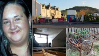 Lynda Spence and flat in West Kilbride