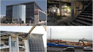 Imax demolition in progress