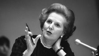 Margaret Thatcher in 1982