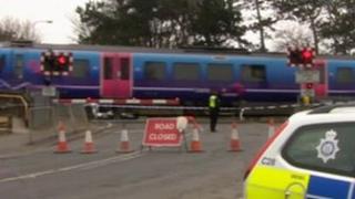 Scene of the crash in Great Coates
