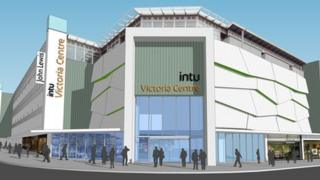 The new Victoria Centre facade.
