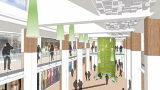 A mock-up of the Victoria Centre's interior.