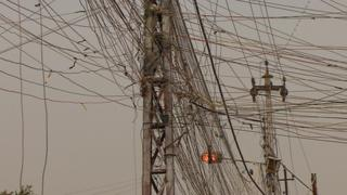 Electricity wires in Baghdad