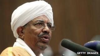 President Omar al-Bashir of Sudan (file image)