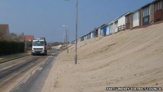 Sand drifts in Sandilands near Sutton-on-Sea