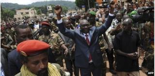CAR leader Michel Djotodia in Bangui, 30 March 2013
