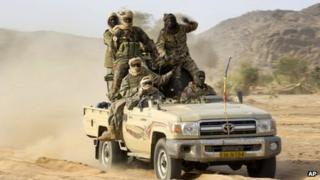 Chadian soldiers in Mali (file photo, taken by French Army Communications Audiovisual office, ECPAD)