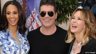 Alesha Dixon, Simon Cowell and Amanda Holden at the Britain's Got Talent launch