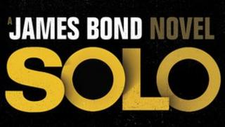 The holding cover of the new Bond book