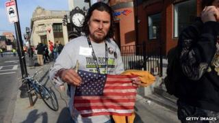 Carlos Arredondo after the explosion