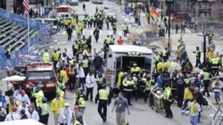 Scene of Boston blasts