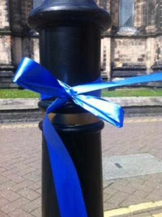 Stafford Hospital blue ribbon