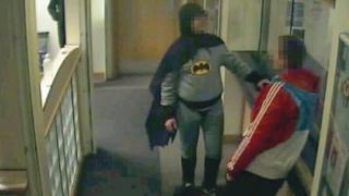 Batman and wanted man