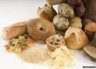 Carbs - bagels, pasta, crisps, muffins, potatoes