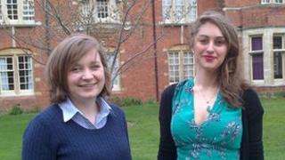 Rebecca Watkins and Rosa Schiller Crawhurst