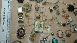 Jewellery on website